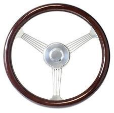 "15"" Dark Mahogany Banjo Steering Wheel for 1948 - 1959 Chevy Pick Up Truck Kit"