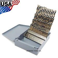 Norseman 60pc NUMBER Drill Bit Set Wire Gauge Stubby Screw Machine Length #1-60