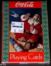 1992 Coca Cola SANTA CLAUS Christmas Playing Cards Sealed Aafes Military Sticker