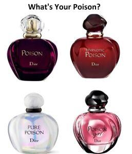 Christian Dior Poison EDP or EDT Women's Variouse Perfume Samples 100% Genuine