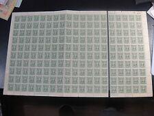 CHINA 1943 Sc#532p Sun Yat Sen Hupeh Sheet of 200 MNH,SCV$400