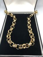 Boys Kids Womens 18k Gold Filled Belcher Chain Necklace Bracelet Sets 18ct curb