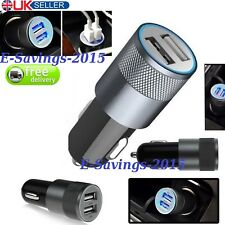CAR CHARGER USB TWIN 2 PORT DUAL FAST 2.1A (2.4 peak) 12V CIGARETTE SOCKET