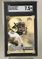 2001 Drew Brees ROOKIE RC Card, Fleer Premium #3RR, SGC Graded Near Mint+ 7.5