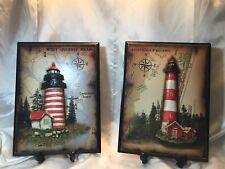 West Quoddy Head & Assateague 3D Lighthouse Wall Art