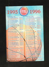 Detroit Pistons--1995-96 Pocket Schedule--Budweiser
