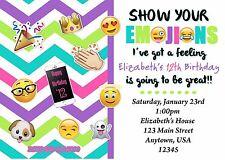Emoji Birthday Invitation, Emoji, Invitations, Birthday