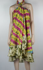 Vintage Gypsy Silk Blend Sari Fabric Boho Wrap Skirt/Dress Sz 10 - 16  NEW #1239