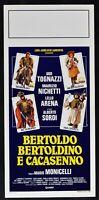 Cartel Bertoldo Bertoldino Cacasenno Monicelli Ugo Tognazzi Paloma Arena N34