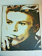 More details for david bowie hand painted portrait on wood