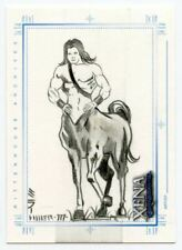 Xena Art & Images Sketch Card by Steven Miller Centaur with Long Hair