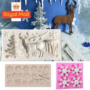 Christmas Snowflake Silicone Fondant Mold Cake Decorating Border Baking Mould 3D