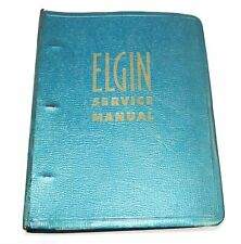 Manual - Bv161 1950's Elgin Watchmakers Service