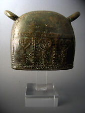2#Antique Bronze Elephant Bell With Clear Stand Beautiful Rare Cheap Don't Mis*