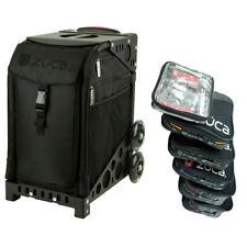 Zuca Stealth Sport Insert Bag + Black Frame (plain wheels) and Packing Pouch Set
