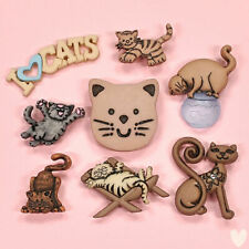 DRESS IT UP Buttons Feline Fancy 371 - Cat Paws Fish Kitten Embellishments