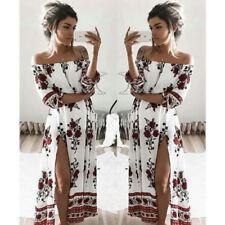 Women Boho Floral Maxi Long Dresses Summer Evening Party Beach Casual Sundress