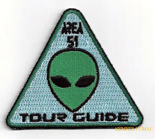 TOUR GUIDE PATCH GROOM LAKE AREA 51 Flying Saucer Roswell PIN UP GREEN MEN ALIEN