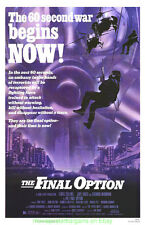THE FINAL OPTION MOVIE POSTER 1983 Original 27x41 LEWIS COLLINS COMMANDO ARTWORK