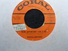 4(Four) Teresa Brewer Vinyl 45's 10 Songs/One Price $15 Free Ship!