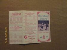 Ahl Hershey Bears Vintage Circa 1978 1979 Style#2 Hockey Season Ticket Brochure