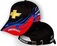 Chevrolet Noir Rouge Casquette Brodé Auto Logo Chapeau Baseball Cap Homme Femme