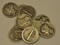 **FREE GIFT** Lot of 15 Mercury Silver Dimes (All Dates)