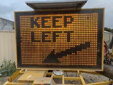 Traffic Flashing Amber Sign Trailer