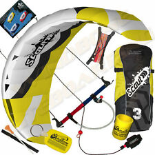 HQ Scout III 3M Power Foil Kite Kiteboarding Snowkiting Trainer Landboarding 3