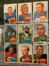 1960 TOPPS COMPLETE FOOTBALL SET -12 BART STARR JOHNNNY UNITAS PAUL HORNUNG NM