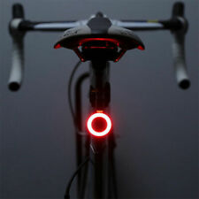 LED Bike Rear Tail Light USB Rechargeable Bicycle Helmet Backpack Sport Red Lamp