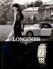 Modern Italian Magazine Advertisement Aishwarya Rai LONGINES Watches 091414