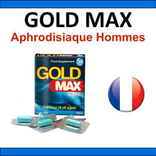 Aphrodisiaque Homme GOLD MAX 5 gélules Stimulant sexuel Livraison discrete 48h