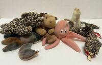 Ty Beanie Babies Lot of 6 w/o Tags 90s Snake Derby Freckles Claude Inky Seahorse