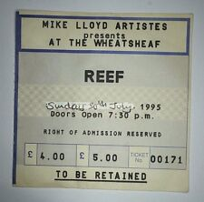 REEF Old Concert Ticket Stub 30th July 1995 Wheatsheaf Stoke