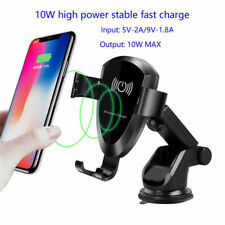 For iPhone X/8 Plus Samsung S8/9 10W QI Wireless fast Charger Car Mount Holder