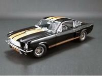 ACME 1:18 1966 Shelby GT350H with Gold Stripes Diecast Model Car Black A1801827
