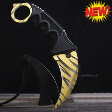 Real Karambit Tactical  Cs Go Skin Knife Tiger Tooth Hunting Camping CSGO Knive