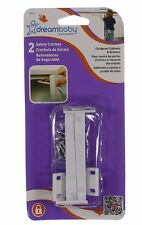 Dreambaby Safety Catches Childproof Cabinets Drawers 2 Pack White New