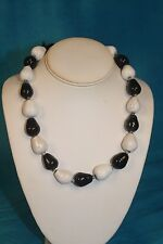 "NEW - KAZURI 18"" Honey Drops Beaded Necklace Black n White sku #1638"