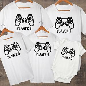 Players 1-5, Dad, Mum, Daughter & Son Matching Family T-shirts, choose 1-5 tees