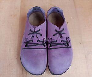 Birkenstock Women 38 EU 7 7.5 U Montana Shoes Leather Nubuck Mocassin Loafers