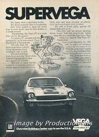 1973 Chevrolet SuperVega Vega -  Original Advertisement Print Art Car Ad J766