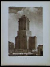 L'ARCHITECTE 1926 VAUCRESSON, LE CORBUSIER, NEW YORK, SHELTON HOTEL, GRENOBLE