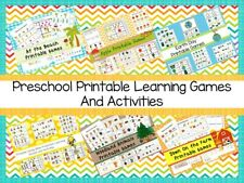 4500 Printable Preschool Curriculum Educational Games and Activities on a USB Fl