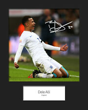 DELI ALLI #3 - ENGLAND Signed 10x8 Mounted Photo Print - FREE DELIVERY