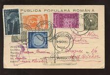 Rumania 1953 Papelería reg.suceava mejorado a Austria