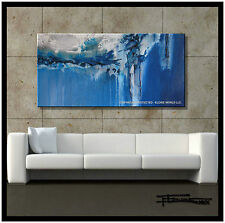 ABSTRACT Painting MODERN Canvas Wall Art FRAMED Large Signed ELOISExxx