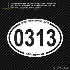 United States Marine Corps MOS 0313 LAV Light Armored Vehicle Crewman Sticker #1