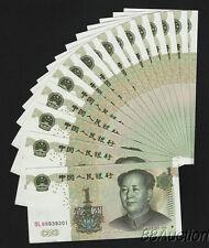 China Banknotes.face value 1 Yuan Rmb 1999 edition. x 10 items, . Unc.